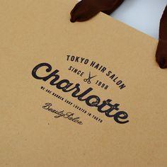 ベリービーバッグ / オリジナル紙袋 / デザイン / ヘアサロン / クラフト紙 / 箔押し / berryB Bag / original paper bag / graphic design / design / Hair salon / kraft / Hot stamp