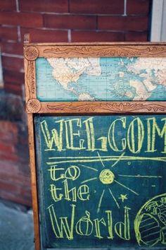 The World: Cute Chalkboard by maria.interest