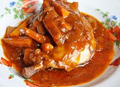 Find main dishes recipes for dinner at including chicken recipes, fish, vegetable and pasta dishes. Easy Chicken Stew, Red Wine Chicken, Stew Chicken Recipe, Oven Roasted Chicken, How To Cook Chicken, Chicken Recipes, Pasta Dishes, Food Dishes, Main Dishes