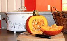 how to cook a pumpkin in a crockpot and use the purée instead of the store bought one