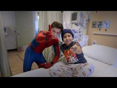 Tom Holland Swings Into Kids' Hospital Dressed as Spider-Man