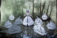 76 photographs, 5 years in the making, the 'Wonderland' series is a deeply emotional collection of works entirely handmade by British fine art photographer Kirsty Mitchell.