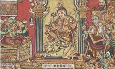 SHIVA NATARAJA MYSORE, SOUTH INDIA, LATE 19TH CENTURY Mysore Painting, India Painting, Madhubani Painting, Silk Painting, Happy Pics, Happy Pictures, Om Namah Shivaya, Nataraja, India Art
