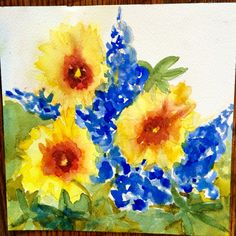 """Wild Thangs"" by Texas Watercolor Artist, Karen Scherrer"