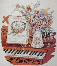 I did this picture a long time ago and put in my friends names and wedding date on the sheet music.