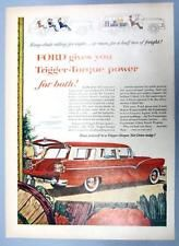 Original 1955 Ford Trigger Torque 8 Seat Country Sedan Station Wagon Ad