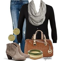 """Fall Neutrals"" by angkclaxton on Polyvore"