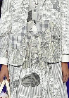 patternprints journal: PRINTS, PATTERNS, TEXTURES, DETAILS FROM NEW YORK CATWALKS (WOMENSWEAR S/S 2016) / Thom Browne