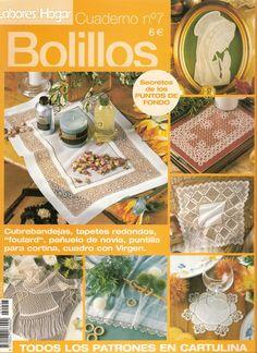 CUADERNO DE BOLILLOS 007 - Almu Martin - Álbumes web de Picasa Bobbin Lace Patterns, Needle Lace, Lace Making, Textile Art, Tatting, Needlework, Projects To Try, Cross Stitch, Album
