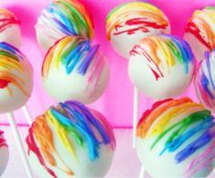 Rainbow Cakepops :P
