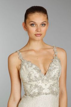 Check out the beading on this @Lazaro_Bridal. Amazing!
