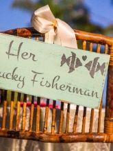 Fishing Wedding Signs