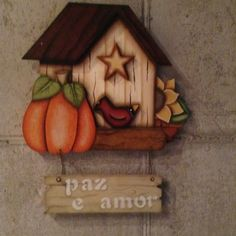Placa Paz e Amor - projeto Ge Ribeiro