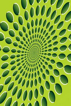 Green Spinner Optical Illusion - http://www.moillusions.com/green-spinner-optical-illusion/