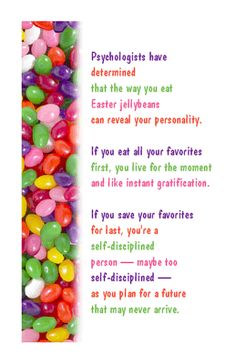 Jellybean Psychology Greeting Card --------------------------------- Easter Printable Card | American Greetings.