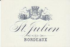 St. Julien Bordeaux French Wine Label. $2.50, via Etsy.