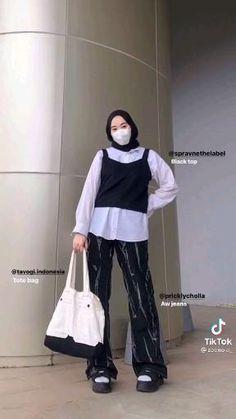 Street Hijab Fashion, Workwear Fashion, Muslim Fashion, Fashion Outfits, Hijab Fashion Inspiration, Korean Girl Fashion, Ootd Hijab, Hijab Outfit, Online Shopping Clothes