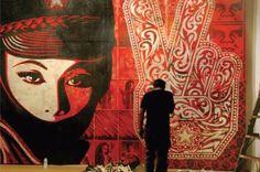 L.Aのストリートアーティストの重鎮・シェパードフェアリー(SHEPARD FAIREY)・Obey