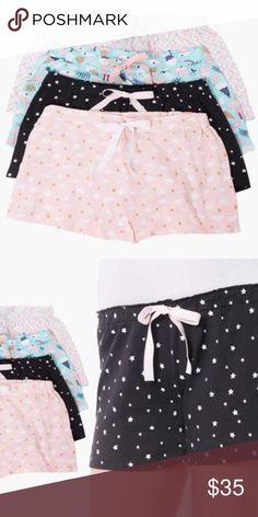 ba0e3ccc7 Olive Street Women s Knit Pajama Short Set 4 Pack Olive Street Hacci Sleep  Shorts (4