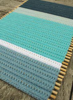 Placemat haken om satéprikkers   draadenpapier   Gratis tutorial #crochet #placemat