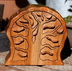 Jewelry Box of Madrone Wood by SierraWoodSculptures on Etsy, $298.00