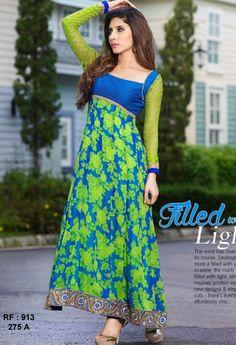 Multi Color Georgette Printed Designer Anarkali Suit 275 A