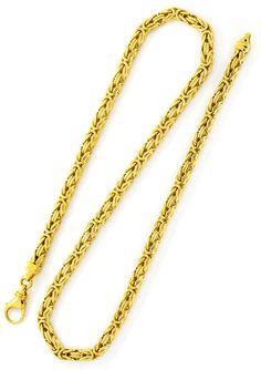 Foto 3, Massive Riesen Königskette, Goldkette 18K Gold, Schmuck, K2146