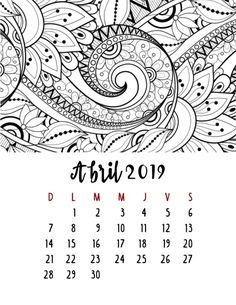 Calendario 2019 – Mama Inventiva Thing 1, Art Sketches, Free Printables, Doodles, Bullet Journal, Notes, Scrapbook, Lettering, Creative