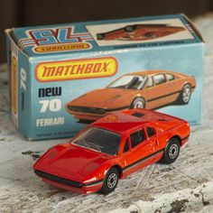 A Matchbox Ferrari no:70.  Comes with original box a great example from the 80's in mint condition. A great collectors piece of an iconic car. Who wouldn't want to own a Ferrari