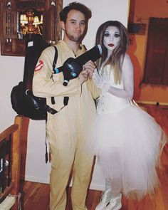 Halloween Couples Costume! Ghostbuster and Ghost  #CouplesCostume #Halloween…
