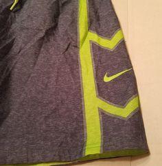 Mens NIKE Swim Trunks Board Shorts Lined Blue Gray Lime Green Lined Sz Small #Nike #Trunks