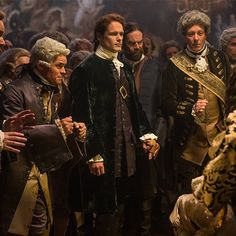 Jamie and Murtagh look rather distinguished among these French gentlemen. #OutlanderOfferings