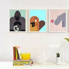 Alphabet Poster - Beaver | MONOQI #bestofdesign