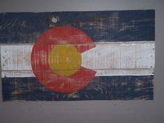 Colorado Pallet Flag Wall Decor & Painting