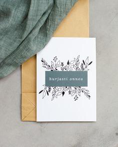 HURJASTI ONNEA - KORTTI – KOHTEESSA.   Eco-friendly cards  #carddesign #ecofriendlyproducts #organic #cardideas #quotes #quoteoflove #words #kotimainen #ekologinen #verkkokauppa #kortti #madeinfinland #flatlay #branding #finnishdesign Eco Friendly, Branding, Organic, Quotes, Cards, Design, Women, Quotations, Brand Management