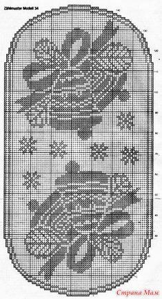Crochet Tunic Pattern, Crochet Blanket Patterns, Crochet Motif, Crochet Doilies, Crochet Table Runner, Crochet Tablecloth, Thread Crochet, Crochet Stitches, Cross Stitch Designs