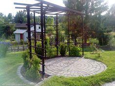 What Is Pergola Roofing Key: 7759111783 Diy Pergola, Small Pergola, Deck With Pergola, Cheap Pergola, Garden Trellis, Garden Gates, Back Gardens, Outdoor Gardens, Le Far West