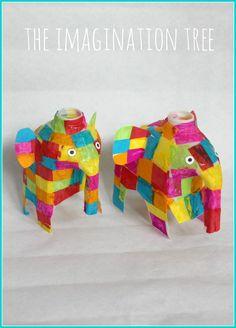 Milk jug Elmer elephant craft activity!