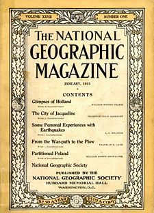 Jan. 27, 1888. The National Geographical Society is formed.