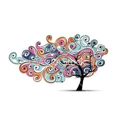 Abstract wavy tree for your design vector 1543011 - by Kudryashka on VectorStock®