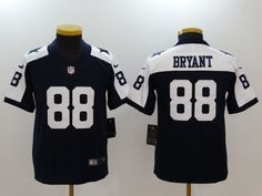 738f7317dc0 Nike Cowboys 88 Dez Bryant Navy Throwback Youth Vapor Untouchable Player Limited  Jersey