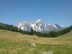 Il Monte Bianco, da sopra La Thuile