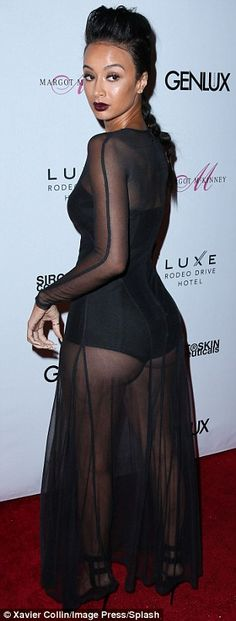 I'm here too!: Basketball Wives star Draya Michele courted attention in a sheer dress and ...