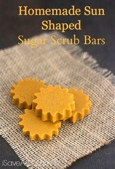 Homemade Sun Shaped Sugar Scrub Bars - iSaveA2Z.com