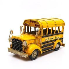 Miniatura Ônibus Escolar Antigo - Machine Cult   A loja das camisetas de carro e moto