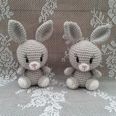 Easy Crochet Animals, Crochet Baby Toys, Crochet Animal Patterns, Easter Crochet, Crochet Bunny, Stuffed Animal Patterns, Crochet Patterns Amigurumi, Cute Crochet, Baby Knitting Patterns