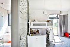 Custom made bunk bed #unique designed kids bedroom. #veldarchitects #kids #playful Outside Living, Architect House, House Floor Plans, Kids Bedroom, Shed, Flooring, Architects, Modern, Bedrooms