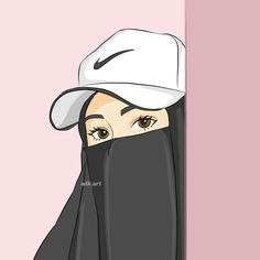 The actual scarf is central to the bit inside attire of women along with hijab. Muslim Pictures, Islamic Pictures, Photo Islam, Cartoon Drawings, Cartoon Art, Caricature, Niqab, Hijab Drawing, Moslem