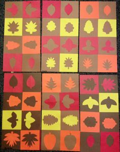 3rd grade positive and negative shapes - Fall