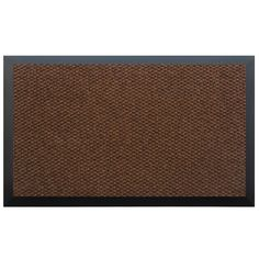 Momentum Mats Teton Brown Entry Mat (Coffee .50 in. H x 60 in. W x 72 in. L), Black (Plastic)